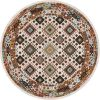 Patchwork brown area rug