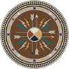 Round native arrow rug