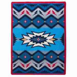 Deep blue western rug