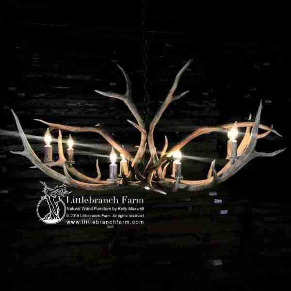 Elk antler chandelier with 8 lights