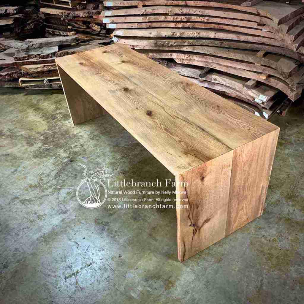 Oak wood slab table