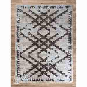 Distressed fresco area rug