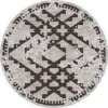 "7'7"" distressed round rug"