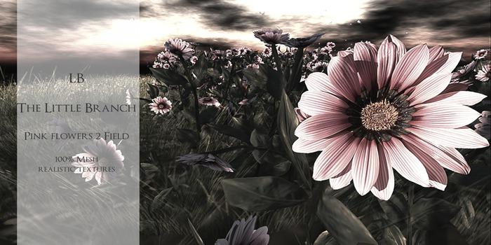 Little Branch Pink Flowers V2 {Field}