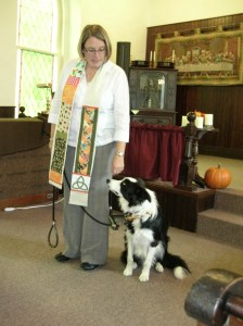 Rev Shelly & a member of her pack