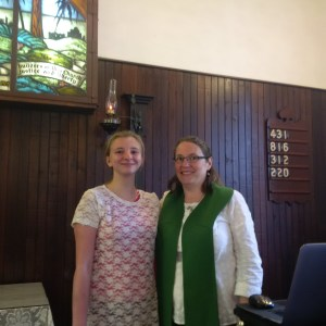 Rev. Shelly & a young member of LBUC