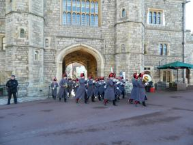 ... On into the castle grounds ...