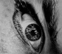 Eye Study 3, Graphite on paper.