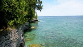 This is not a tropical island! It's Lake Michigan! Holy Moly!