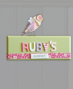 bedroom door sign for girls