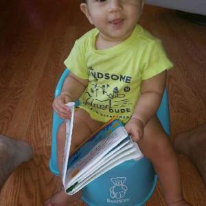 Baby led potty training
