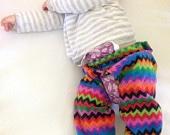 split crotch pants with diaper prefold