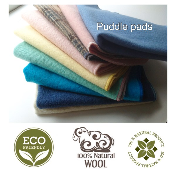 repurposed Wool puddle pads