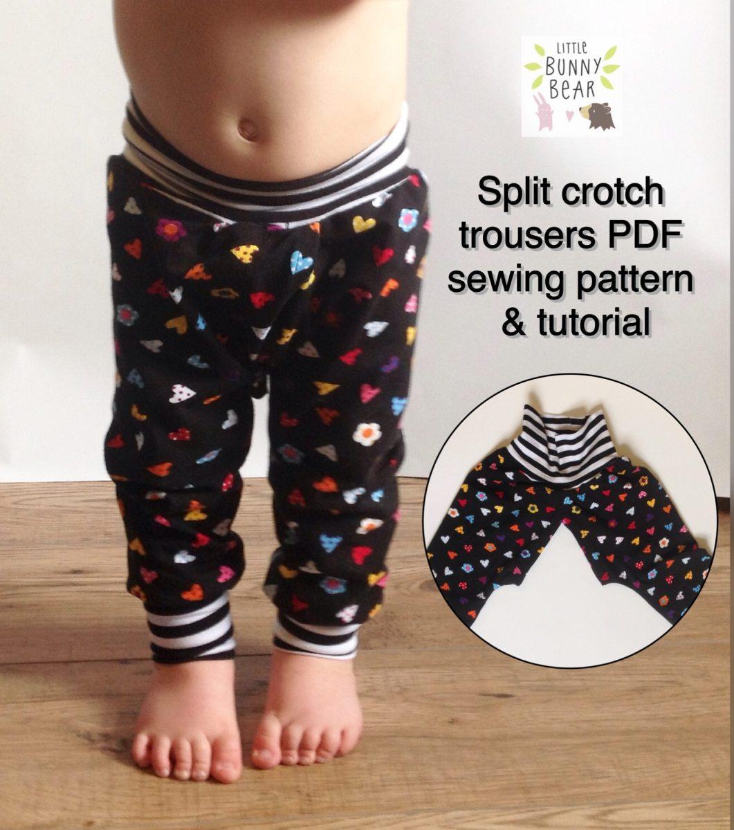 DIY split crotch clothing for elimination communication