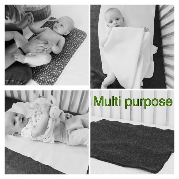 Wool puddle pad wool changing mat