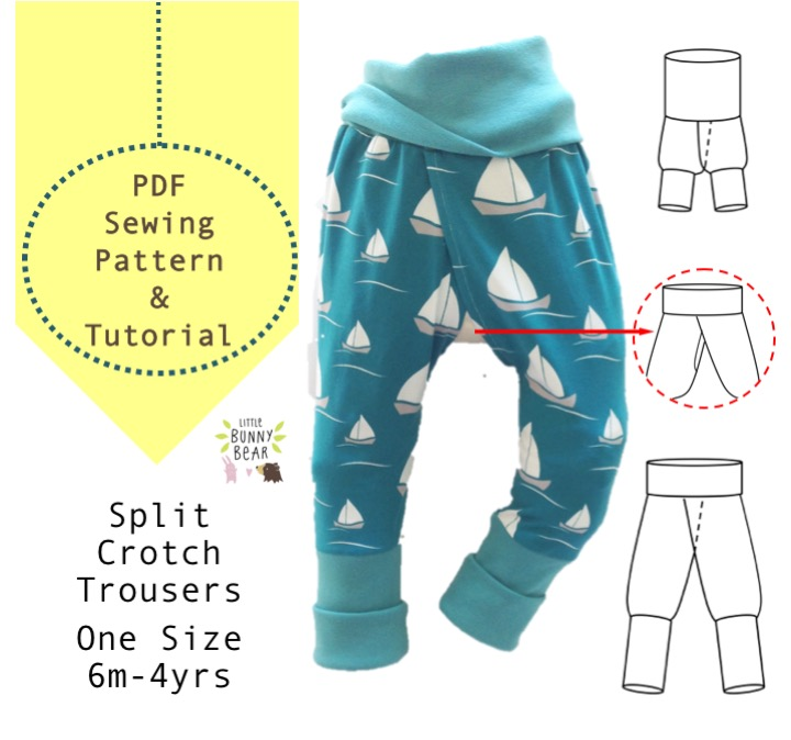 DIY split crotch clothing for elimination communication