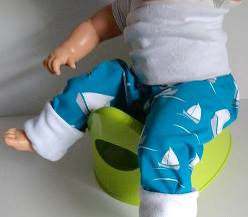 Split crotch trousers