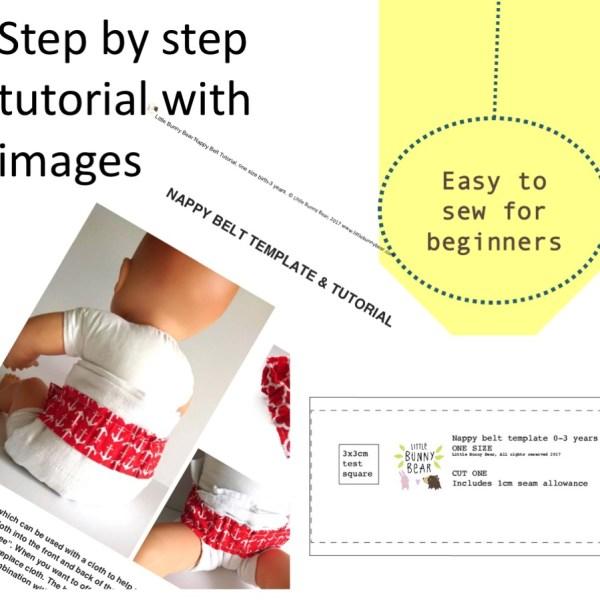 DIY diaper nappy belt