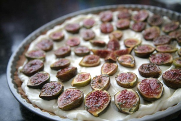 caramelized brown sugar roasemary fig tart