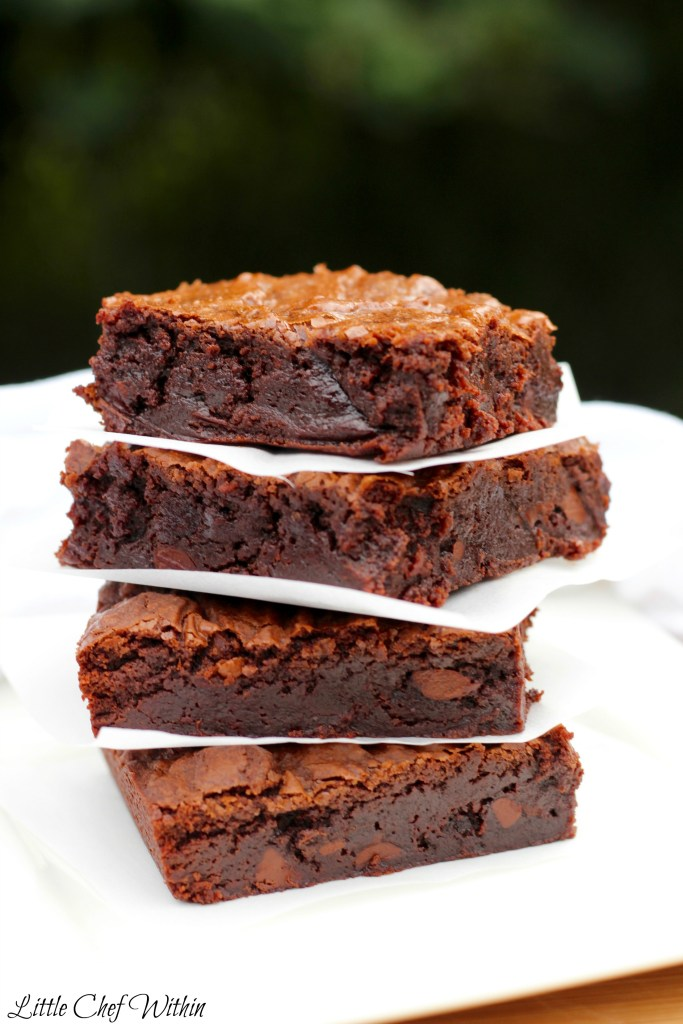 Fudgy Brownies-LittleChefWithin.com
