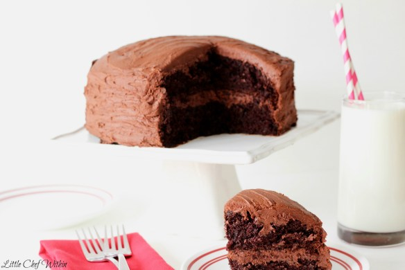Extreme Chocolate Cake-LittleChefWithin.com