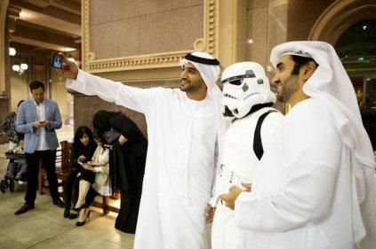Emiratis at the regional premiere