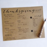 FREE Thanksgiving Meal Planner Print