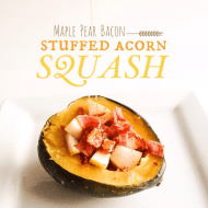 STUFFED MAPLE ACORN SQUASH