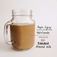 PALEO CHOCOLATE SPINACH SHAKE