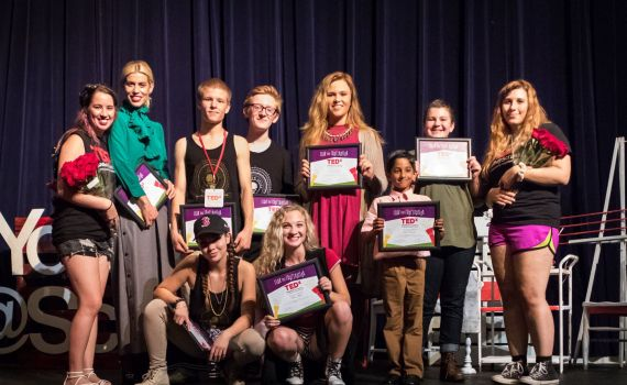 With his fellow presenters at TedxYouthScranton