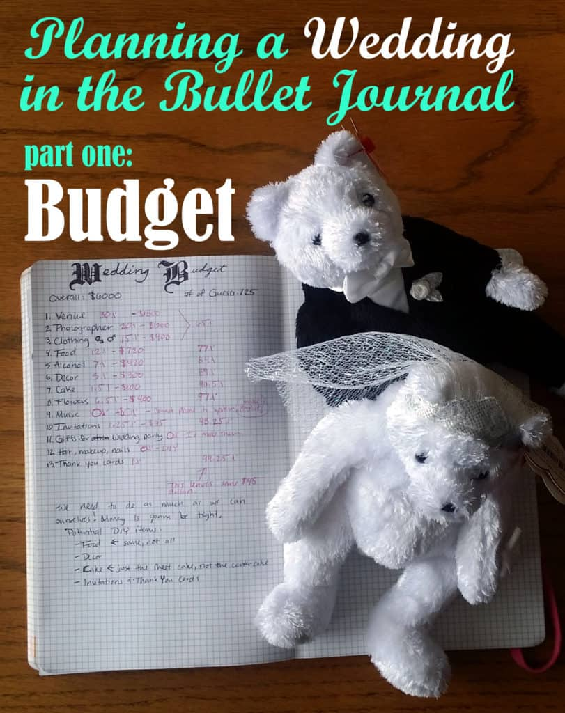 Planning a Wedding in the Bullet Journal Part One: Budget | Littlecoffeefox.com