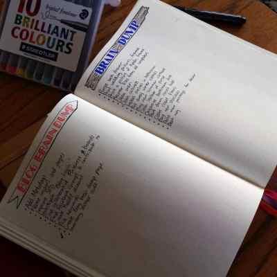 Brain Dump in the Bullet Journal