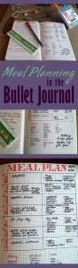 Meal planning in the bullet journal is easy!
