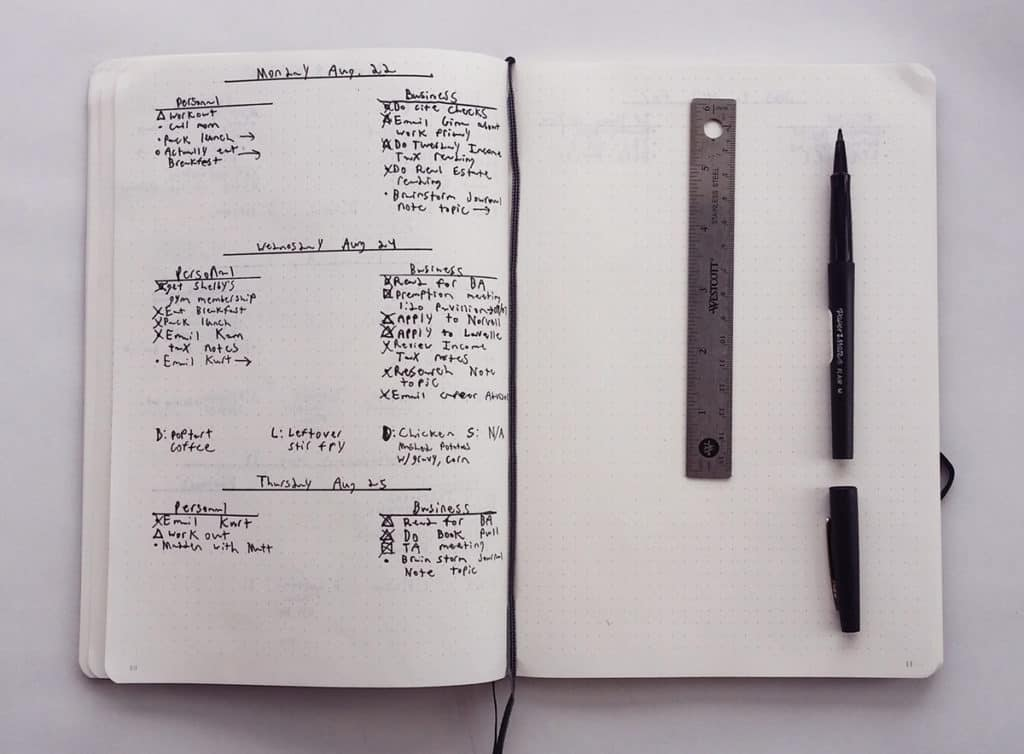 Take a glimpse into the bullet journal of a first-timer. This dyslexic law student generously shares his first pages of his brand new bullet journal and discusses his thoughts as he gets started and his struggles.