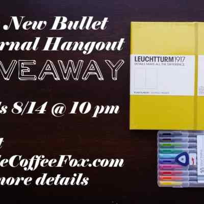 CLOSED – The New Bullet Journal Hangout Giveaway