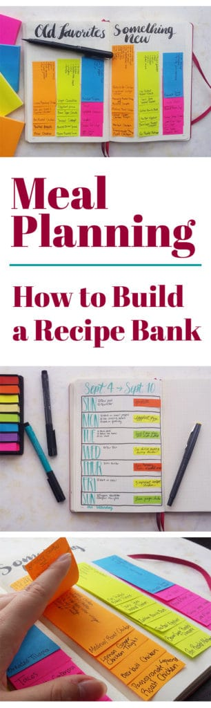 Meal Planning Revisited  How To Build A Recipe Bank  Littlecoffeefox