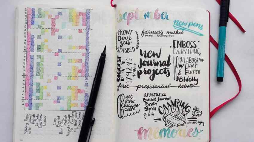 Capturing memories is a wonderful side effect of the bullet journal. However, you can make the process of preserving memories more direct by creating a memories page. Simply create a place where you can gather all your fond memories and add some love. When you look through your bullet journal later in life, you'll be so glad you did!