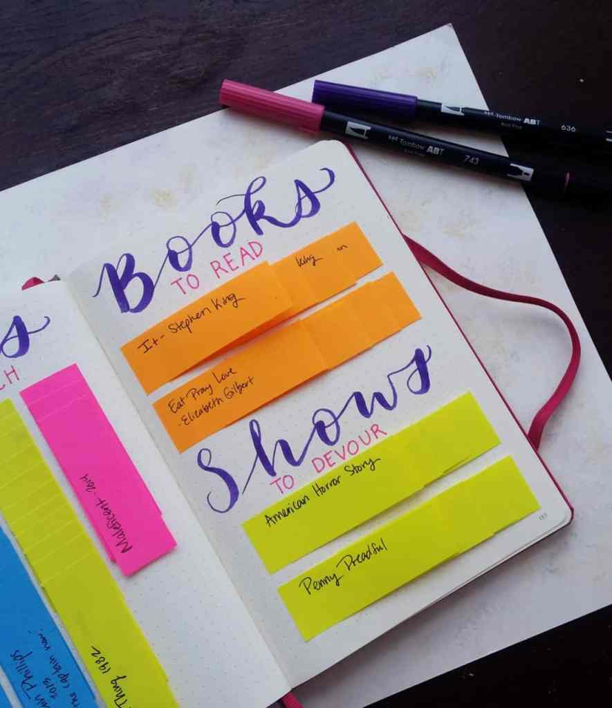 When you love TV shows, books, and movies as much as me, then you need to keep a list! There's so much entertainment out there, and it's so easy to forget suggestions or upcoming shows. My solution is a Post-It bank in my bullet journal for an interactive and flexible show tracker. Now I can always have a waiting list of awesome media to enjoy!