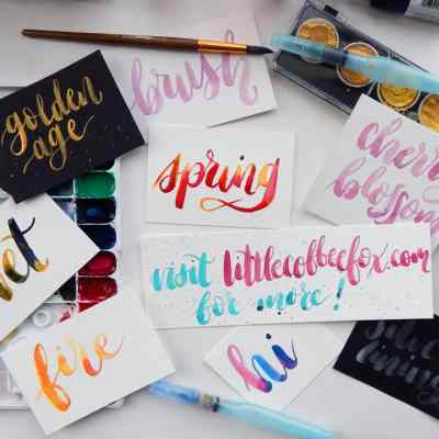 How to Create Watercolor Calligraphy – The Basics