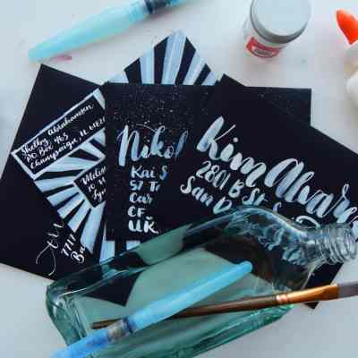 DIY Envelopes – How to Address a Black Envelope with Style