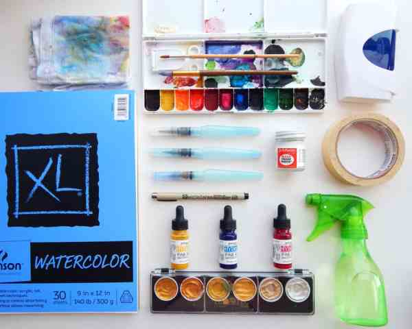 Beginner Watercolor Painting Supplies