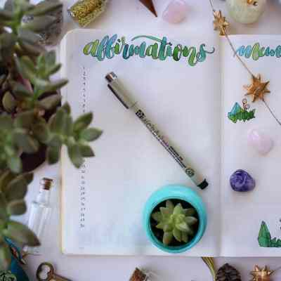 Practice Self Care and Foster a Positive Attitude with an Affirmation Log