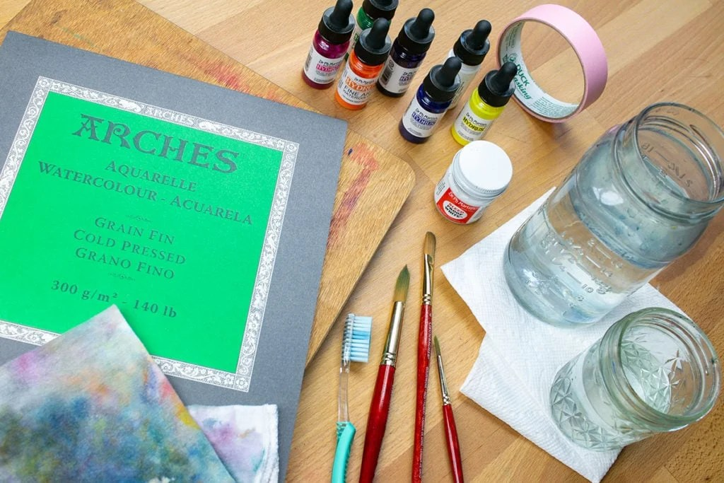 watercolor galaxies for beginners