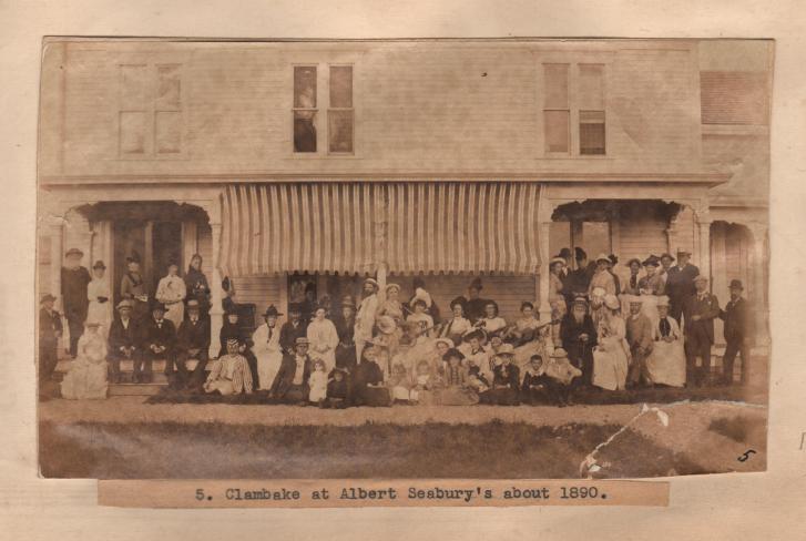 Seabury Clambake 1890 BFW Scrapbook 001