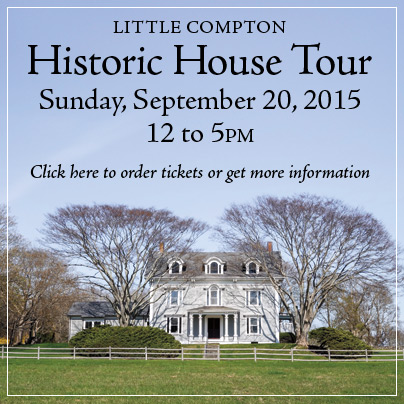 Little Compton Historic House Tour Sunday, September 20, 2015 from 12 to 5pm, click here to order tickets or get more information