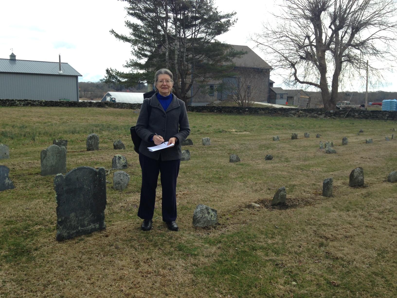 Elizabeth Cazden Quaker Historian visits the LC Quaker Burying Ground