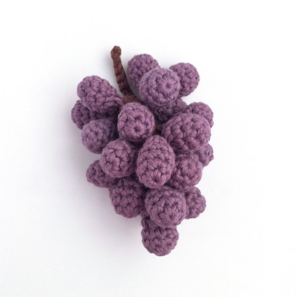 Picture of crocheted grapes
