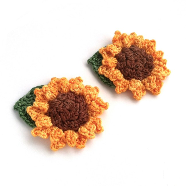 Handmade Sunflower Brooch