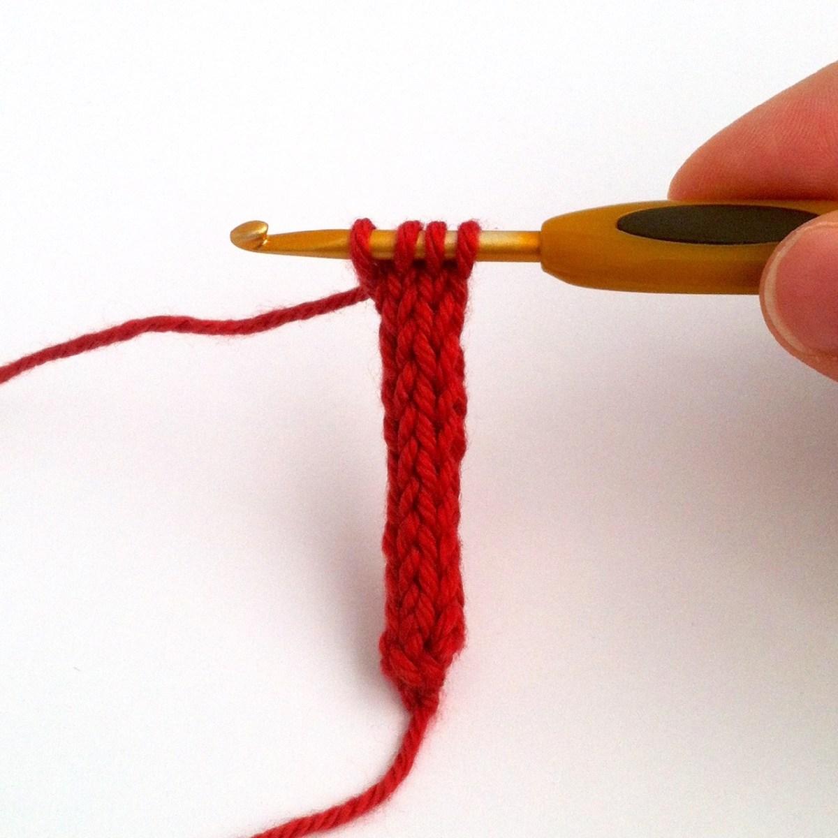 4 stitch Crochet i-Cord