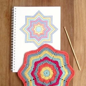 Crochet 8 Point Star Blanket Pattern